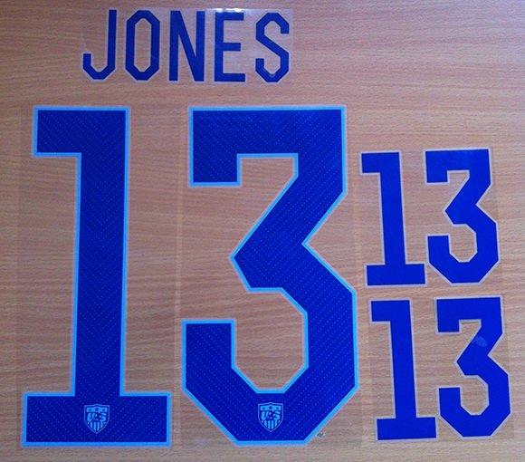 JONES 13 UNITED STATES USA 2014 2015 NAME NUMBER SET NAMESET KIT PRINT