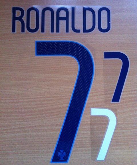 RONALDO 7 PORTUGAL AWAY 2014 2015 NAME NUMBER SET NAMESET KIT PRINT FOOTBALL CR7