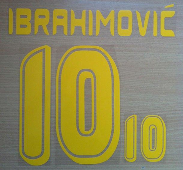 IBRAHIMOVIC' 10 SWEDEN AWAY WORLD CUP 2006 NAME NUMBER SET NAMESET KIT PRINT