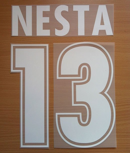 NESTA 13 SS LAZIO AWAY 2000 2001 NAME NUMBER SET NAMESET KIT PRINT NUMBERING