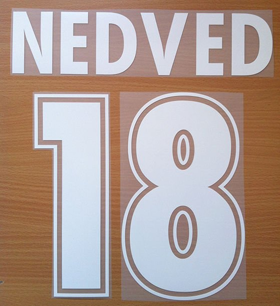 NEDVED 18 SS LAZIO AWAY 2000 2001 NAME NUMBER SET NAMESET KIT PRINT NUMBERING