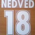NEDVED 18 SS LAZIO AWAY 2000 2001 NAME NUMBER SET NAMESET KIT PRINT NUMBERING