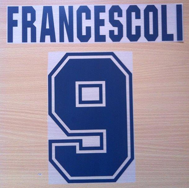 FRANCESCOLI 9 RIVER PLATE HOME 1996 NAME NUMBER SET NAMESET KIT PRINT NUMBERING