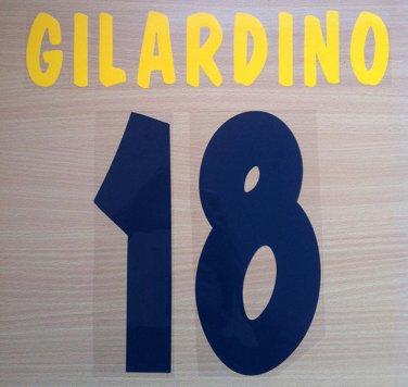 GILARDINO 18 PARMA HOME 2002 2003 NAME NUMBER SET NAMESET KIT PRINT NUMBERING