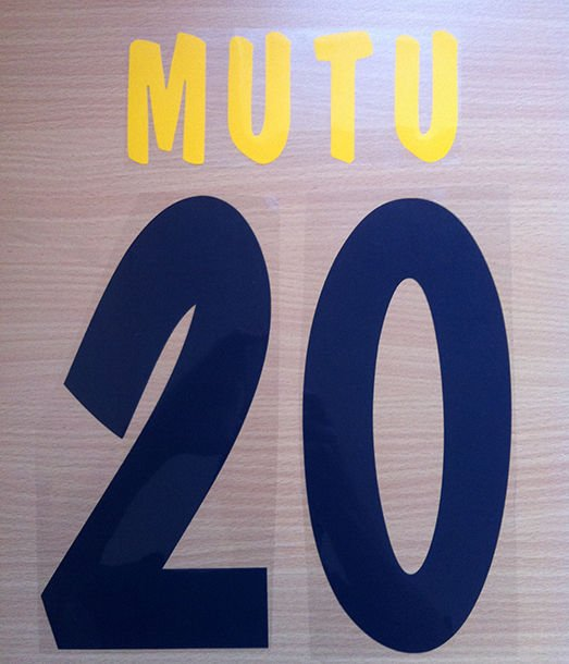 MUTU 20 PARMA HOME 2002 2003 NAME NUMBER SET NAMESET KIT PRINT NUMBERING