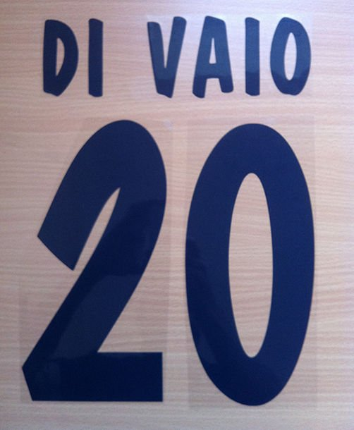DI VAIO 20 PARMA HOME 2000 2001 NAME NUMBER SET NAMESET KIT PRINT NUMBERING