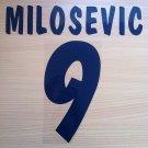 MILOSEVIC 9 PARMA HOME 2000 2001 NAME NUMBER SET NAMESET KIT PRINT NUMBERING