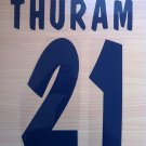 THURAM 21 PARMA HOME 2000 2001 NAME NUMBER SET NAMESET KIT PRINT NUMBERING