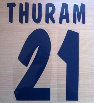 THURAM 21 PARMA HOME 2000 2001 NAME NUMBER SET NAMESET KIT PRINT NUMBERING