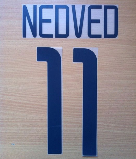 NEDVED 11 JUVENTUS HOME 2003 2004 NAME NUMBER SET NAMESET KIT PRINT NUMBERING
