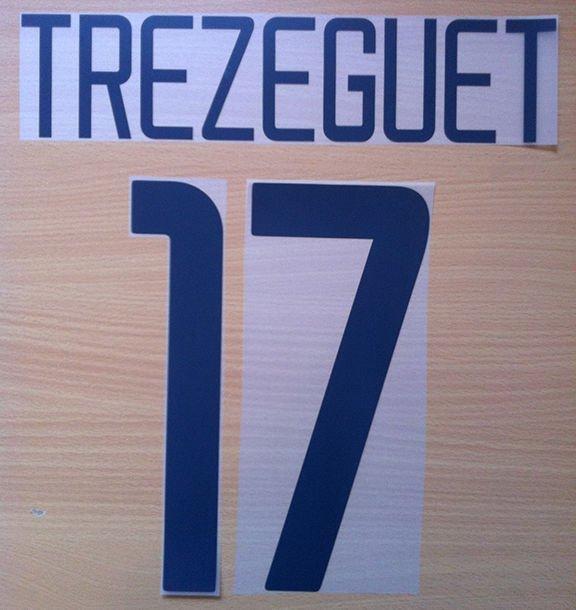 TREZEGUET 17 JUVENTUS HOME 2003 2004 NAME NUMBER SET NAMESET KIT PRINT NUMBERING