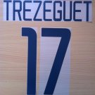 TREZEGUET 17 JUVENTUS HOME 2003 2004 NAME NUMBER SET NAMESET KIT PRINT NUMBERING