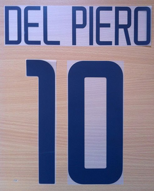 DEL PIERO 10 JUVENTUS HOME 2003 2004 NAME NUMBER SET NAMESET KIT PRINT NUMBERING