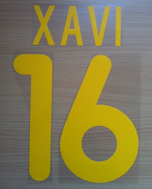 XAVI 16 BARCELONA HOME 2001 2002 NAME NUMBER SET NAMESET KIT PRINT