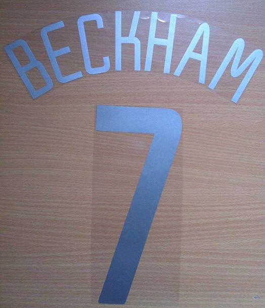 BECKHAM 7 MANCHESTER UNITED AWAY UCL 2002 2003 NAME NUMBER SET NAMESET PRINT