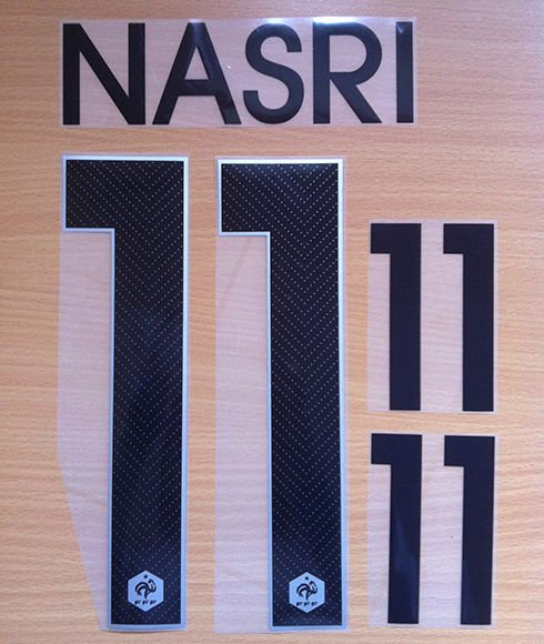 NASRI 11 FRANCE AWAY 2014 2015 NAME NUMBER SET NAMESET KIT PRINT FOOTBALL