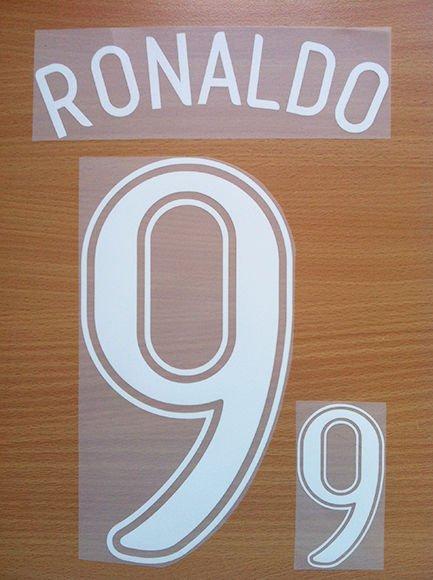 RONALDO 9 BRAZIL AWAY WORLD CUP GERMANY 2006 NAME NUMBER SET NAMESET KIT PRINT