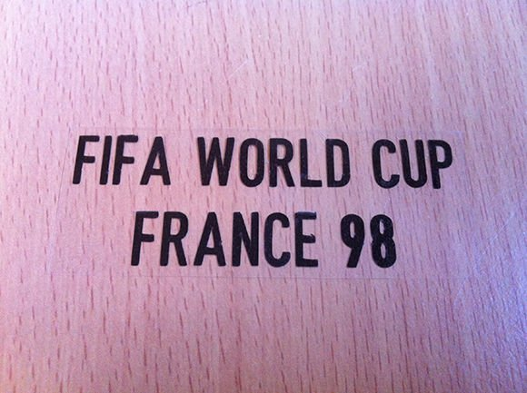 MATCH DETAILS FIFA WORLD CUP FRANCE 98 PRINT BLACK