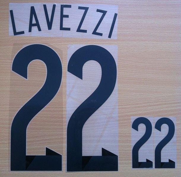 EZEQUIEL LAVEZZI 22 ARGENTINA HOME 2014 2015 NAME NUMBER SET NAMESET KIT PRINT