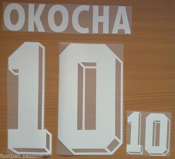 OKOCHA 10 NIGERIA HOME WORLD CUP 1994 NAME NUMBER SET NAMESET KIT PRINT