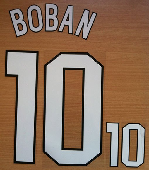 BOBAN 10 AC MILAN HOME 1998 2000  NAME NUMBER SET NAMESET KIT PRINT RETRO