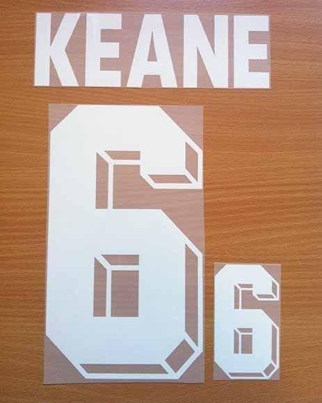 ROY KEANE 6 REPUBLIC OF IRELAND HOME WC 1994 NAME NUMBER SET NAMESET KIT PRINT