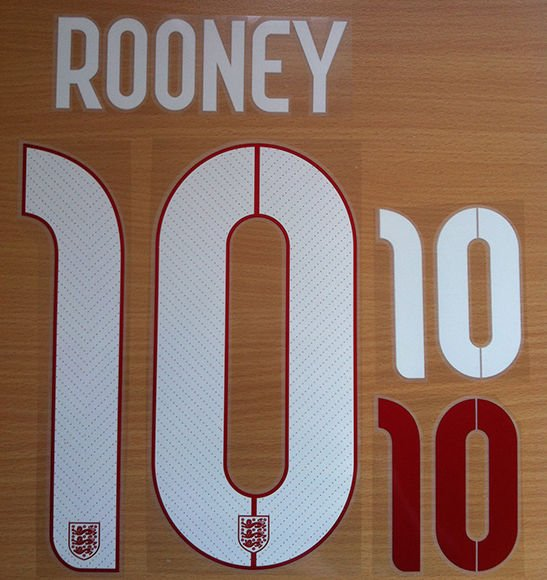 ROONEY 10 ENGLAND AWAY 2014 2015 NAME NUMBER SET NAMESET KIT PRINT