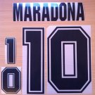 MARADONA 10 ARGENTINA HOME WORLD CUP 1994 NAME NUMBER SET NAMESET KIT PRINT