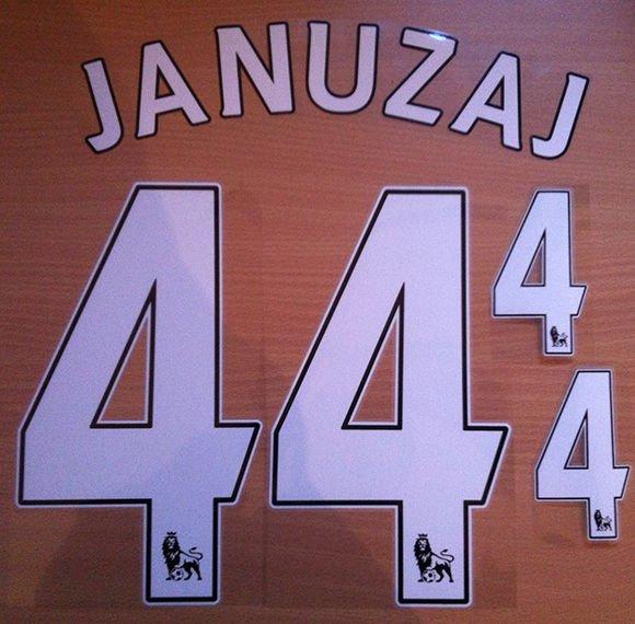 JANUZAJ 44 MANCHESTER UNITED HOME 2013 2014 NAME NUMBER SET NAMESET KIT PRINT