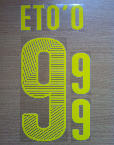 SAMUEL ETO'O 9 CAMEROUN HOME 2014 2015 NAME NUMBER SET NAMESET KIT PRINT