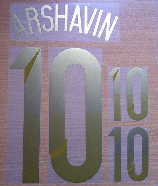 ARSHAVIN 10 RUSSIA HOME 2014 2015 NAME NUMBER SET NAMESET KIT PRINT