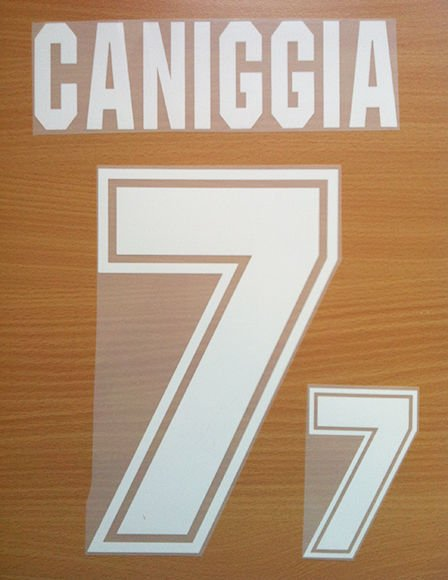 CANIGGIA 7 ARGENTINA AWAY WORLD CUP 1994 NAME NUMBER SET NAMESET KIT PRINT