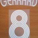 GERRARD 8 LIVERPOOL HOME UCL 2006 2007 NAME NUMBER SET NAMESET KIT PRINT RETRO