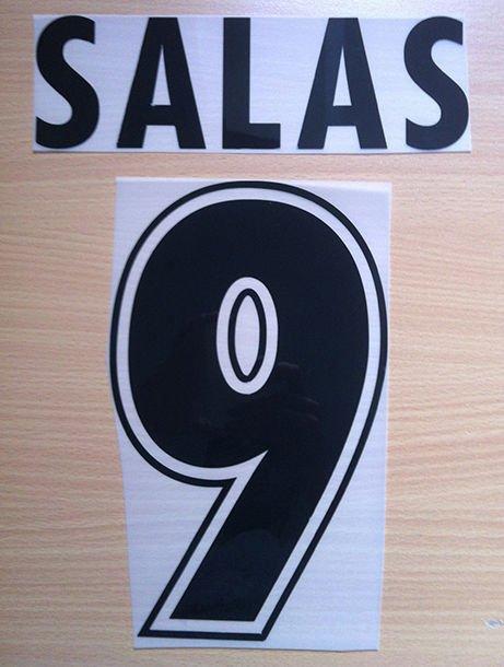 SALAS 9 SS LAZIO HOME 1998 2002 NAME NUMBER SET NAMESET KIT PRINT NUMBERING