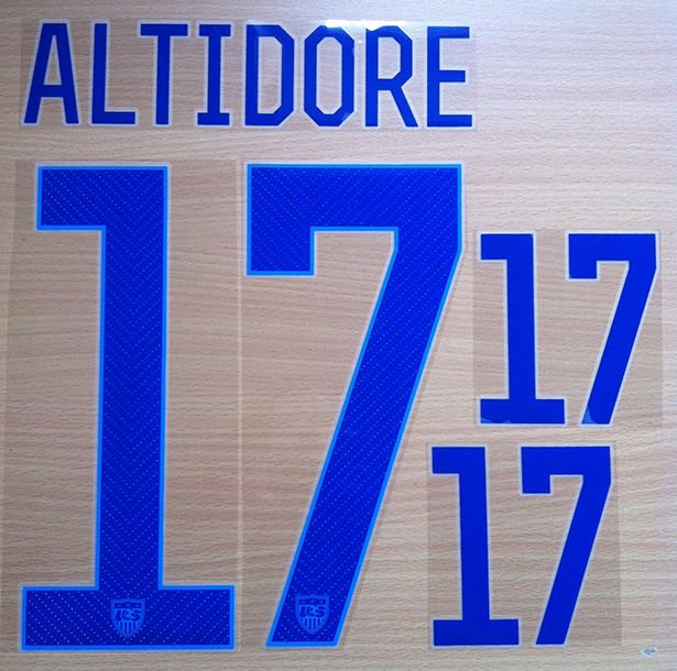 ALTIDORE 17 UNITED STATES USA 2014 2015 NAME NUMBER SET NAMESET KIT PRINT