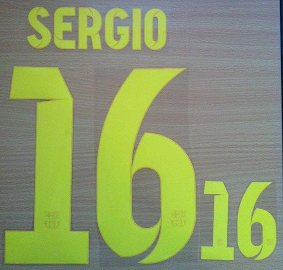 SERGIO BUSQUETS 16 BARCELONA HOME 2013 2014 NAME NUMBER SET NAMESET KIT PRINT