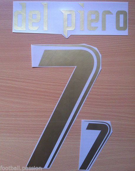 DEL PIERO 7 ITALY HOME WORLD CUP 2006 NAME NUMBER SET NAMESET KIT PRINT