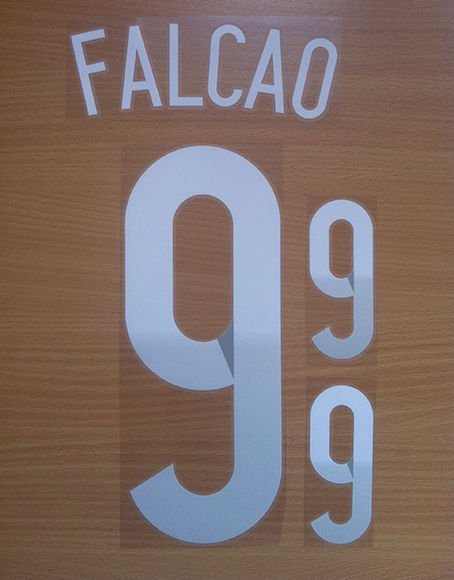 FALCAO 9 COLOMBIA AWAY 2014 2015 NAME NUMBER SET NAMESET KIT PRINT WORLD CUP