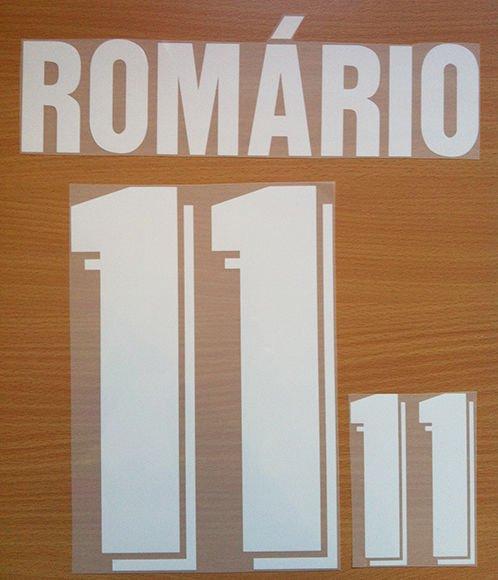 ROMARIO 11 BRAZIL AWAY WC 1994 NAME NUMBER SET NAMESET KIT PRINT NUMBERING