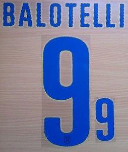 MARIO BALOTELLI 9 ITALY ITALIA AWAY 2014 2015 NAME NUMBER SET NAMESET KIT PRINT