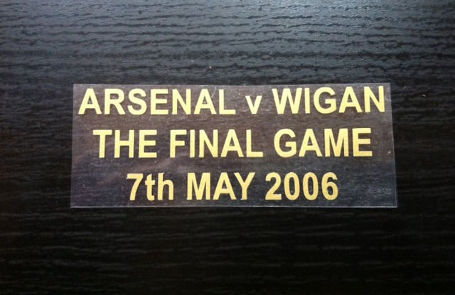 MATCH DETAILS ARSENAL VS WIGAN THE FINAL GAME 7th MAY 2006 FINAL HIGHBURY SALUTE