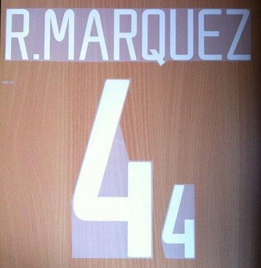 RAFA MARQUEZ 4 MEXICO HOME WORLD CUP 2002 NAME NUMBER SET NAMESET KIT PRINT