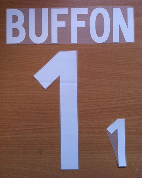BUFFON 1 ITALY HOME WORLD CUP 2002 NAME NUMBER SET NAMESET KIT PRINT NUMBERING