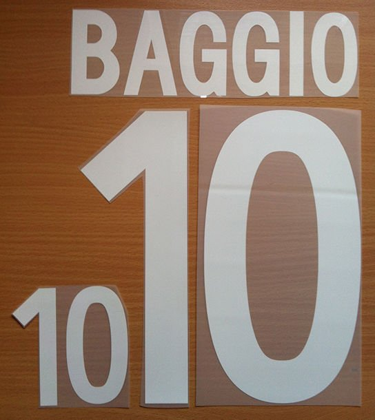 BAGGIO 10 ITALY HOME WORLD CUP 2002 NAME NUMBER SET NAMESET KIT PRINT NUMBERING