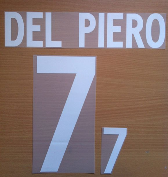DEL PIERO 7 ITALY HOME WORLD CUP 2002 NAME NUMBER SET NAMESET KIT PRINT