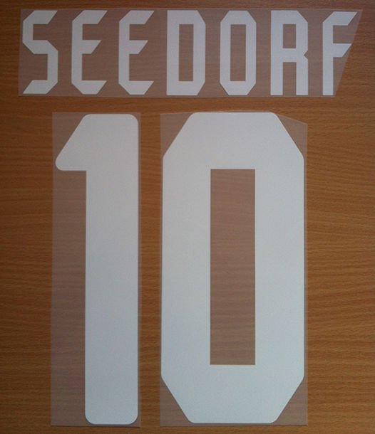 SEEDORF 10 AC MILAN UCL 2006 2007 NAME NUMBER SET NAMESET KIT PRINT