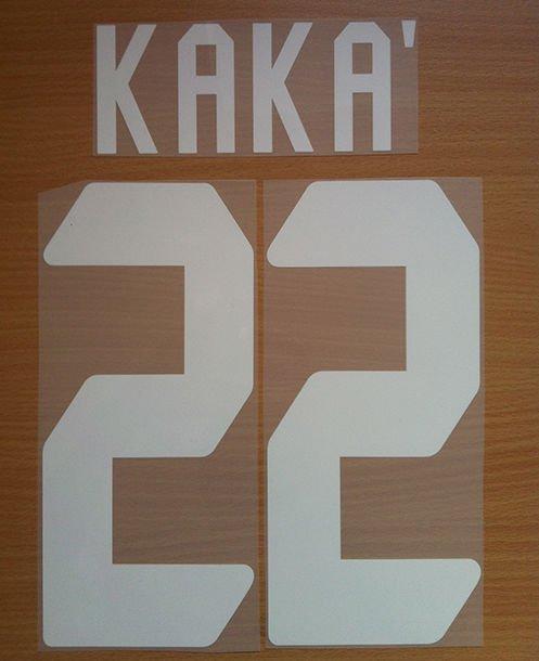 RICARDO KAKA' 22 AC MILAN UCL 2006 2007 NAME NUMBER SET NAMESET KIT PRINT
