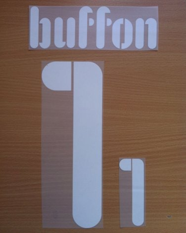 BUFFON 1 ITALY HOME CONFEDERATIONS CUP 2009 NAME NUMBER SET NAMESET KIT PRINT