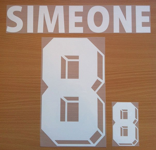 SIMEONE 8 ARGENTINA AWAY WORLD CUP 1998 NAME NUMBER SET NAMESET KIT PRINT