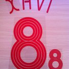 XAVI HERNANDEZ 8 SPAIN AWAY WORLD CUP 2006 NAME NUMBER SET NAMESET KIT PRINT